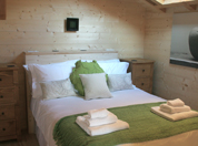 A chalet bedroom